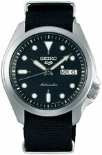 Seiko 5 Sports Men's Water-Resistant 100M Automatic Watch - Black