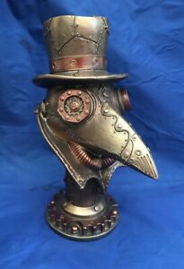 Steampunk Beaky Plague Doctor Bust Figurine Nemesis Now New Boxed Ornament