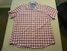 028 MENS NWOT NAUTICA WHITE / RED / NAVY CHECK S/S SHIRT SZE XXL $110 RRP.