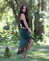 Gypsy Lace Skirt, Festival Fairy Pixie Boho Elven Burlesque Bohemian High to Low