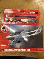 Brand New Airfix 1:72nd Scale De Havilland Vampire T.11 Starter Set
