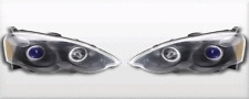 FITS ACURA RSX 2002-2004 BLACK/BLUE ANGEL EYE PROJECTOR WITH AMBER REFLECTOR