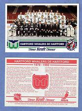 1992-93 Kraft Dinner (Canada) Hartford Whalers Factory Redemption Postcard