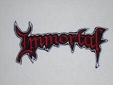 IMMORTAL BLACK METAL IRON ON EMBROIDERED PATCH