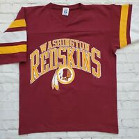 Vtg WASHINGTON REDSKINS Logo 7 Jersey SHIRT Striped Sleeves NFL Football