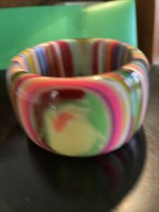 SOBRAL striped multicolor wide 5 cm cuff      2.5 in diameter