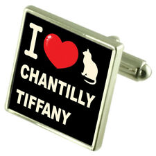 I Love My Cat Cufflinks Chantilly-Tiffany