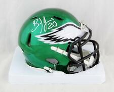 4719bc314a3 Brian Dawkins Autographed Philadelphia Eagles Chrome Mini Helmet- JSA W Auth
