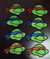 """Teenage Mutant Ninja Turtles patches embroidered iron or sew on 8 pieces 2 3/8"""""""