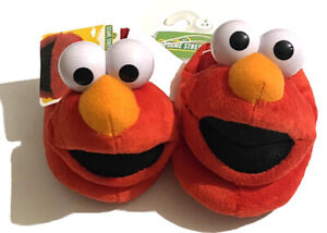 Baby toddler Elmo Sesame Street size 3/4 small Red slippers