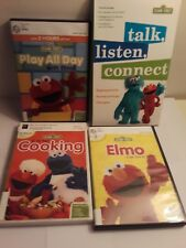 Lot of 4 Sesame Street DVDs: Play All Day, Talk Listen, Cooking, Elmo Can Do It