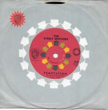 """THE EVERLY BROTHERS - TEMPTATION - 7"""" 45 VINYL RECORD - 1961"""