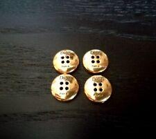 4 BOUTONS DIOR Métal doré – diamètre 10mm