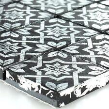MUSTER Keramik Feinsteinzeug Mosaik Fliese Platin Schwarz