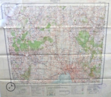Antique Map 9-129 Military map of Melbourne c.1931