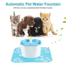 1.6L Automatic Dog Cat Electric Water Fountain USB Pet Bowl Dish Drinking Filter
