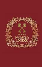 Erwin's Password Logbook : Username and Password Keeper (Internet Password...