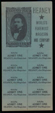 Heaney Magician Block Of Tickets With Adv Good Luck