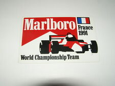 autocollant F1 team france 1991