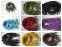 Wholesale 10pcs Bulk lot Multi-color Suede Leather String 20 inch Necklace Cords