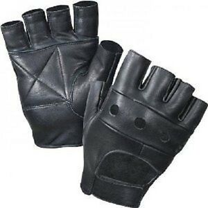 REAL LEATHER FINGERLESS GLOVES BIKERS FULL TRAINING CYCLING GYM WHEEL CHAIR USE