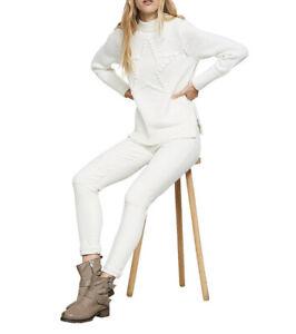 Mint Velvet Pom Pom Star Knit Jumper, Ivory White Size Xs Comfy