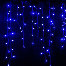 Icicle Hanging Snowing Fairy Lights Curtain Christmas Wedding Party Outdoor Lamp