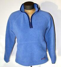 Patagonia Synchilla Marsupial Women's Blue Fleece Pullover Fleece Jacket-Size Xs