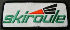 "VINTAGE SKIROULE SNOWMOBILE PATCH NEW 2"" X 5"" RARE SIZE COLLECTOR QUALITY (751)"