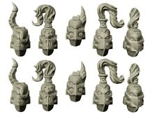 SPELLCROW - 10x Casques Space Marine du Chaos *Warhammer 40k Bitz*