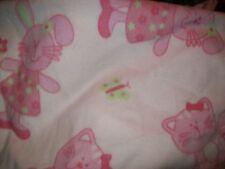 pink bunny kitty fleece personalized Blanket baby toddler 30x35
