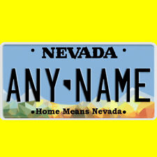 Bicycle license plate - Nevada design, new custom personalized, any name