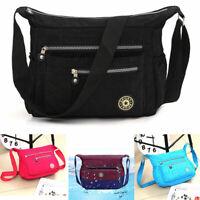 Herren Damen Schultertasche Tasche Umhängetasche Handtasche Nylon Crossover Bag