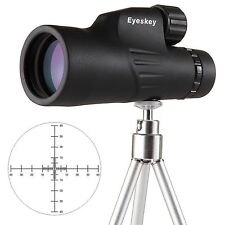High-Definition Black Hunting 10x50 Waterproof Monocular&Reticle&Tripod Bak-4