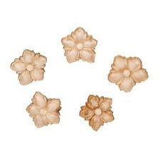 Small Wood Flower Appliques-Wood Crafts-Decorative Wood-6pcs