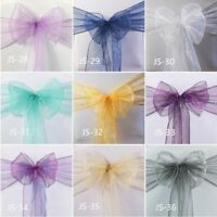 organza chair sashes ribbon ties chair bows organza table runner wedding decor