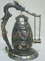 National handmade brass carved dragon buddhist Buddha's clock Good luck bell