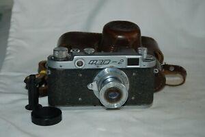 FED 2 (type A3) Vintage 1956 Soviet Rangefinder Camera & Case. 077102. UK Sale