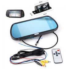 "7"" TFT Digital LCD Monitor Mirror Night Vision Car Rear View Parking Back Camera"