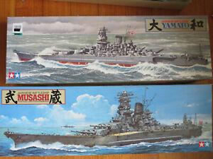 Tamiya  1/350 Japanese Battleship Musashi & Yamato