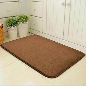 Washable Non Slip Door Mats Soft Shag Bath Rug Water Absorbent Bathroom Carpet