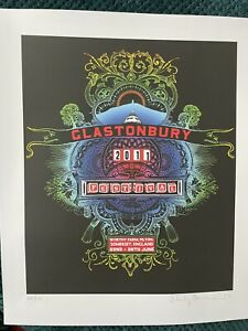 Stanley Donwood - Glastonbury 2011 Art Print   VERY RARE MINT CONDITION