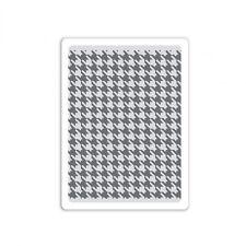 Tim Holtz Texture Fades ~ HOUNDSTOOTH ~ Embossing Folder ~ 661201