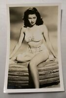 Actress RPPC Yvonne De Carlo Real Photo Post Card Vtg Pin Up Legs Lily Munster