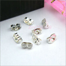 500Pcs Silver Plated Butterfly Back Earring Stoppers Findings 3x5mm A598