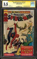 Amazing Spider-Man Annual #1 CGC 3.5 SS STAN LEE 1st app SINISTER SIX DITKO Art