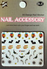 Happy Halloween - Sticker, Nagelsticker,Nailart ,Vampir,Spinne,Katze,Geist E067