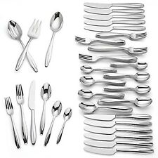 Lenox Vernick 87 Piece Flatware Set Service For 12 Stainless Steel 18/10 NEW