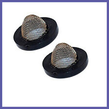 2x Stainless steel rubber washer filters for washer and dishwasher hoses