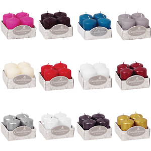 Votive Candles, set of 4, 11 colors, 7 hours burning time, Matt and Metallic